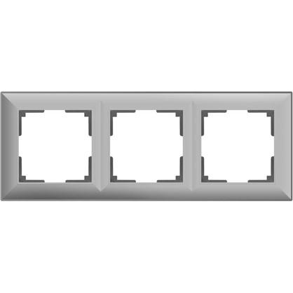 Рамка Fiore 3 поста цвет серебряный