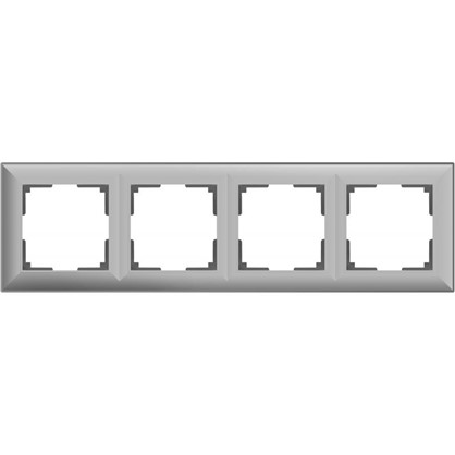 Рамка Fiore 4 поста цвет серебряный