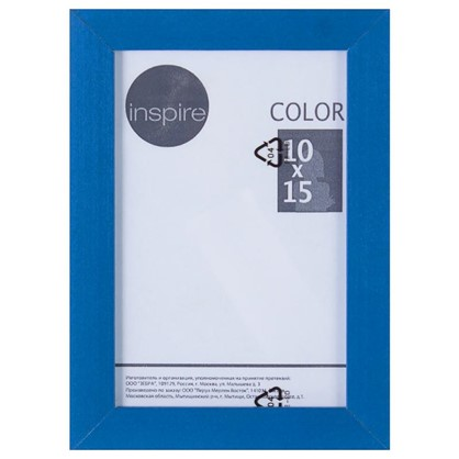 Рамка Inspire Color 10х15 см цвет синий