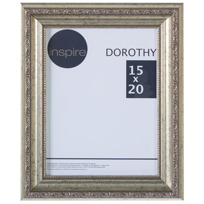 Рамка Inspire Dorothy цвет серебряный размер 15х20