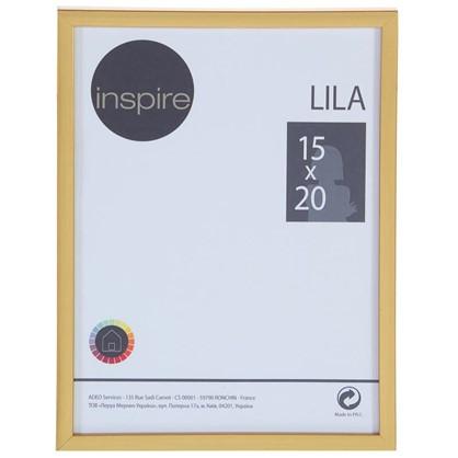 Купить Рамка Inspire Lila цвет золото размер 15х20 см дешевле