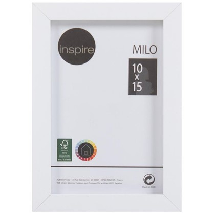 Рамка Inspire Milo 10х15 см цвет белый