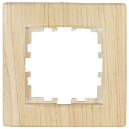 Рамка сферическая для розеток и выключателей 1 пост цвет дуб беленый матовый