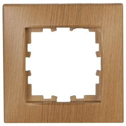 Рамка сферическая для розеток и выключателей 1 пост цвет дуб классический матовый