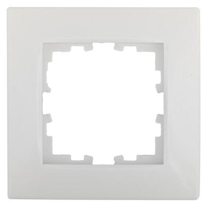 Рамка сферическая для розеток и выключателей Виктория 1 пост цвет белый
