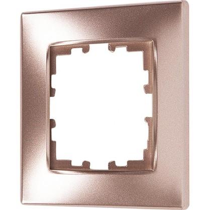 Купить Рамка сферическая для розеток и выключателей Виктория 1 пост цвет матовая бронза дешевле