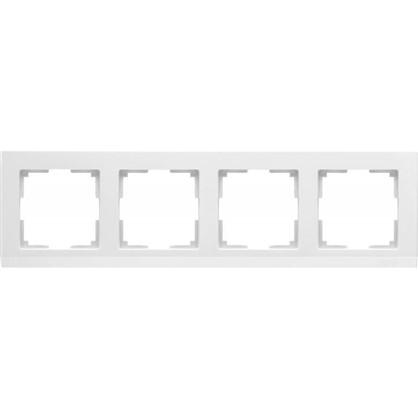 Рамка Stark 4 поста цвет белый