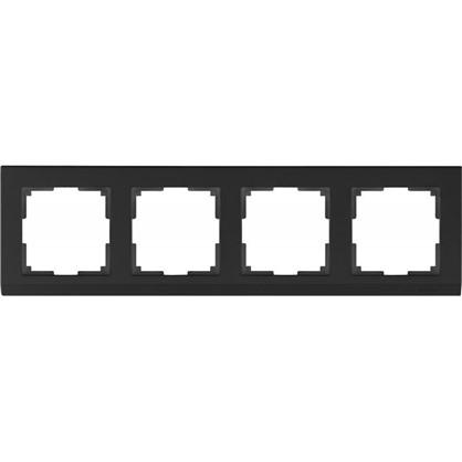 Рамка Stark 4 поста цвет чёрный