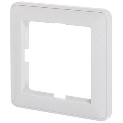 Купить Рамка W59 1 пост цвет белый дешевле