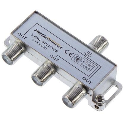 Разветвитель F на 3 TV (5-1000MHz)