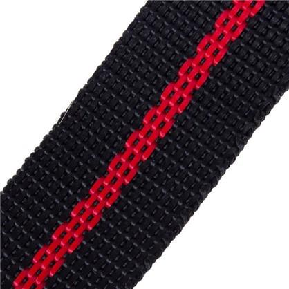 Ремень 25 мм 5 м полипропилен цвет черно-красный