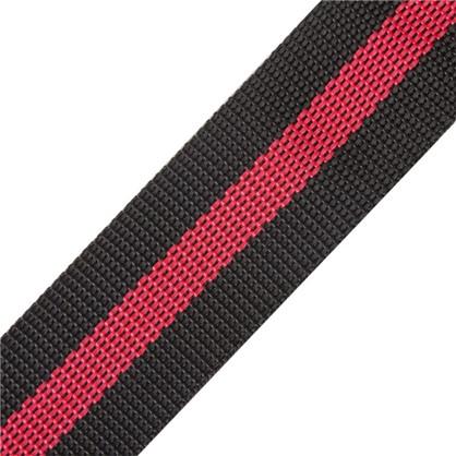 Ремень 40 мм 5 м полипропилен цвет черно-красный