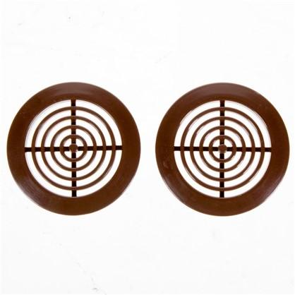 Купить Решетка дверная вентиляционная Awenta T-73 D45 мм цвет коричневый 2 шт дешевле