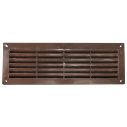 Решетка дверная вентиляционная Вентс МВ 350 344x108 мм цвет коричневый
