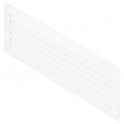Решетка дверная вентиляционная Вентс МВ 350 368x130 мм цвет белый