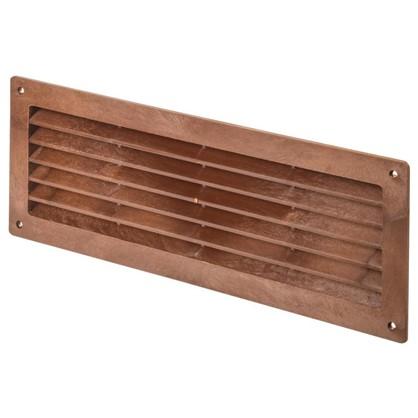 Купить Решетка дверная вентиляционная Вентс МВ 350 368x130 мм цвет красное дерево дешевле