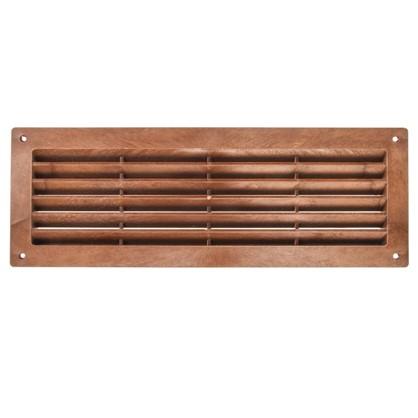 Решетка дверная вентиляционная Вентс МВ 350 368x130 мм цвет красное дерево