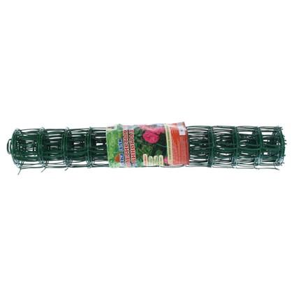 Купить Решетка садовая размер ячейки 90х90 мм высота 100 см цвет хаки дешевле