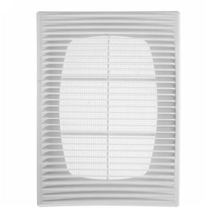 Решетка вентиляционная приточно-вытяжная АБС 1825П 183х253 мм цвет белый