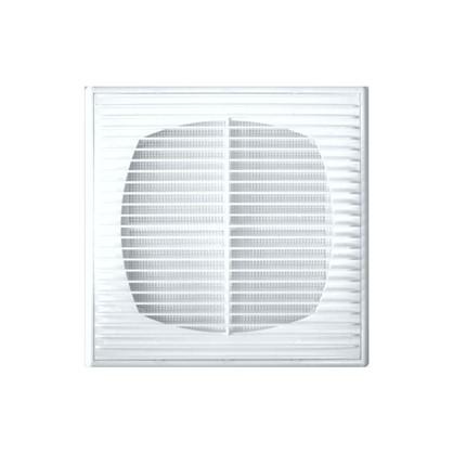 Решетка вентиляционная приточно-вытяжная АБС 2121П 208х208 мм цвет белый