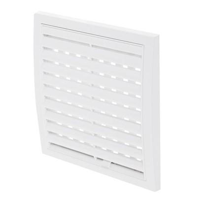 Купить Решетка вентиляционная регулируемая АБС 1515РРП 150х150 мм цвет белый дешевле