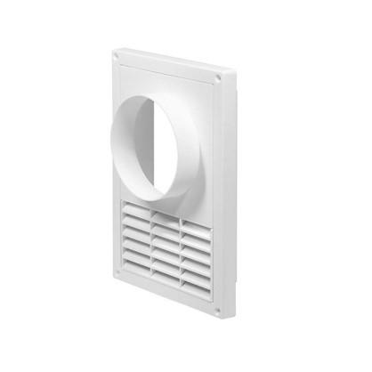 Решетка вентиляционная с фланцем Awenta T-80 165х235 мм цвет белый