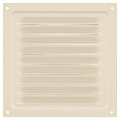Решетка вентиляционная с сеткой Вентс МВМ 150 с 150х150 мм цвет бежевый
