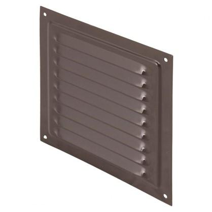 Купить Решетка вентиляционная с сеткой Вентс МВМ 150 с 150х150 мм цвет коричневый дешевле