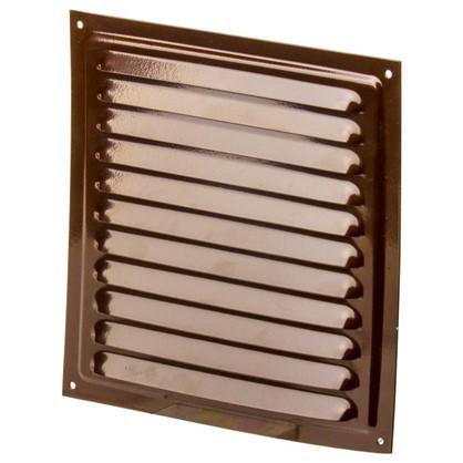 Решетка вентиляционная с сеткой Вентс МВМ 200 с 200х200 мм цвет коричневый
