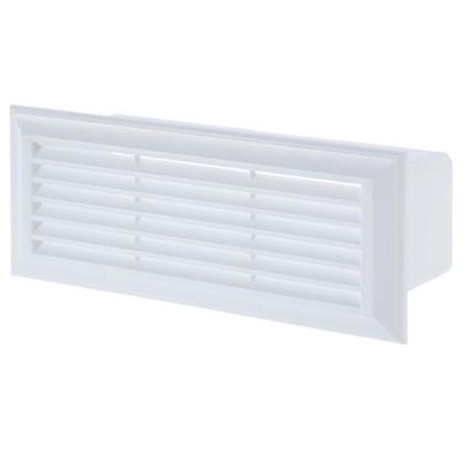 Решетка вентиляционная Вентс 871 204х60 мм цвет белый
