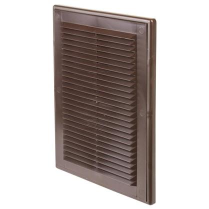 Купить Решетка вентиляционная Вентс МВ 125 с 182x251 мм цвет коричневый дешевле