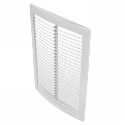 Решетка вентиляционная вытяжная АБС 1825РЦ 180х250 мм цвет белый