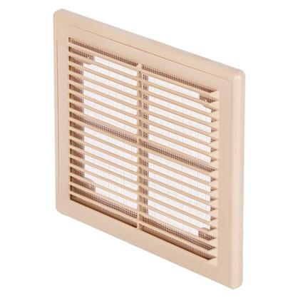 Решетка вентиляционная вытяжная  АБС 208х208 цвет бежевый