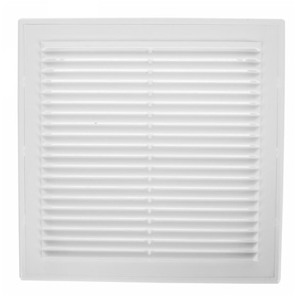 Решетка вентиляционная вытяжная АБС 249х249 мм цвет белый