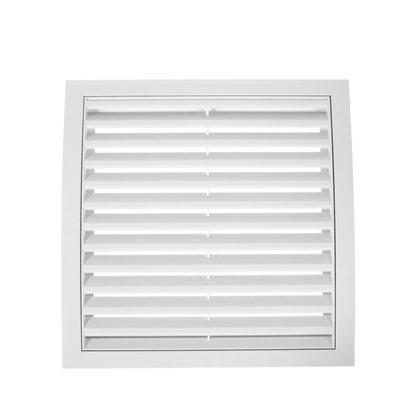 Купить Решетка вентиляционная вытяжная АБС 250х250 мм цвет белый дешевле