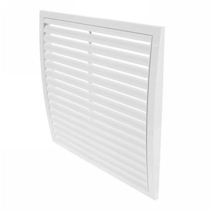 Купить Решетка вентиляционная вытяжная АБС 350х350 мм цвет белый дешевле