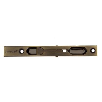 Ригель дверной 140x15x1 мм сталь цвет античная бронза
