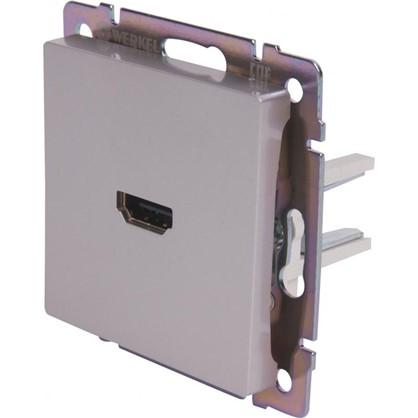 Розетка HDMI WL07-60-11 цвет серебристый
