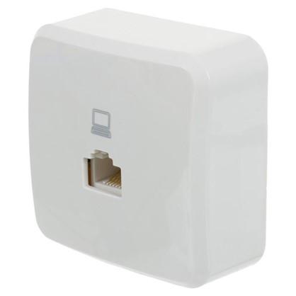 Купить Розетка компьютерная цвет белый дешевле