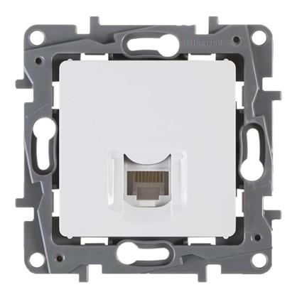 Розетка компьютерная Etika RJ45 UTP cat 5 цвет белый