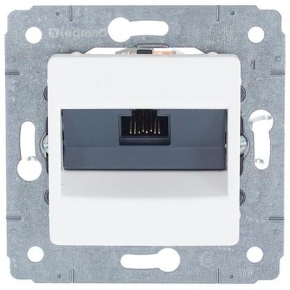 Купить Розетка компьютерная Legrand Cariva RJ45 UTP Cat.6 цвет белый дешевле
