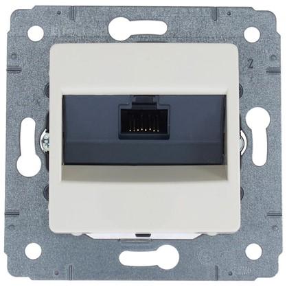Розетка компьютерная Legrand Cariva RJ45 UTP Cat.6 цвет слоновая кость