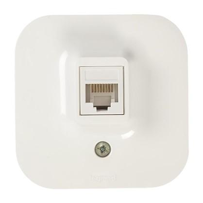 Розетка компьютерная Quteo RJ45 UTP cat 5е цвет белый