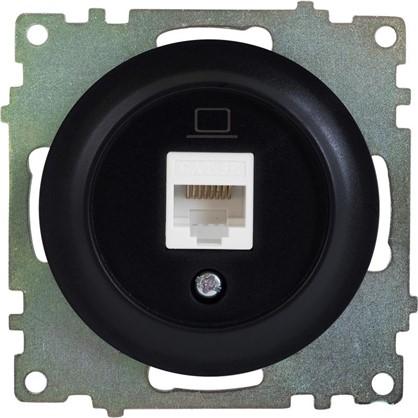 Купить Розетка компьютерная RJ45 Florence кат.5е цвет чёрный дешевле