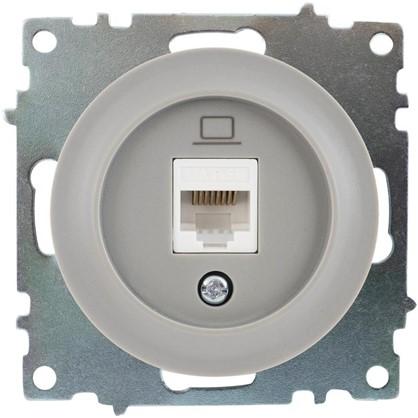 Розетка компьютерная RJ45 Florence кат.5е цвет серый