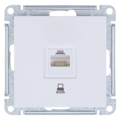 Розетка компьютерная W59 RJ45 кат.5E цвет белый