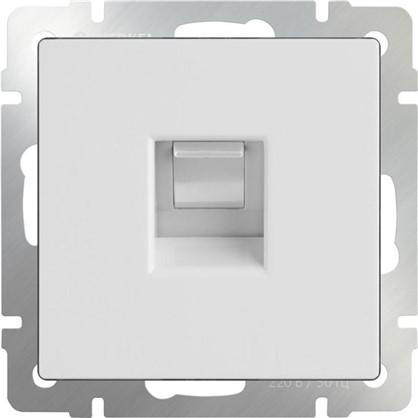 Купить Розетка компьютерная Werkel Ethernet RJ-45 цвет белый дешевле