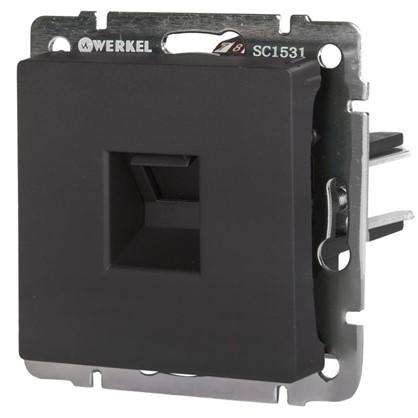 Розетка компьютерная Werkel Ethernet RJ-45 цвет черный