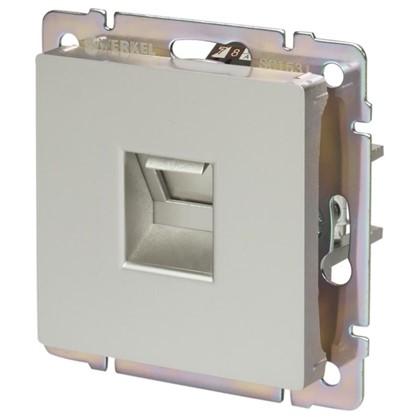 Розетка компьютерная Werkel Ethernet RJ-45 цвет серебро