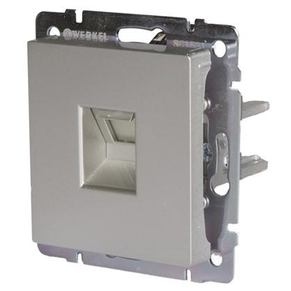 Купить Розетка компьютерная Werkel Ethernet RJ-45 цвет серебро дешевле